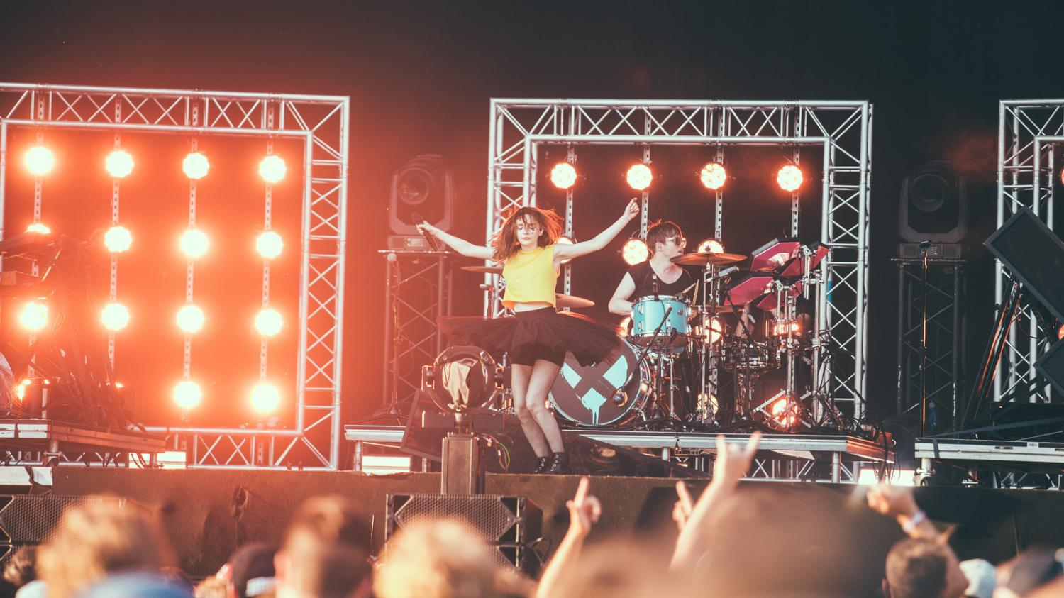 Frontfrau Lauren Mayberry von den CHVRCHES beim Open Air St. Gallen 2018